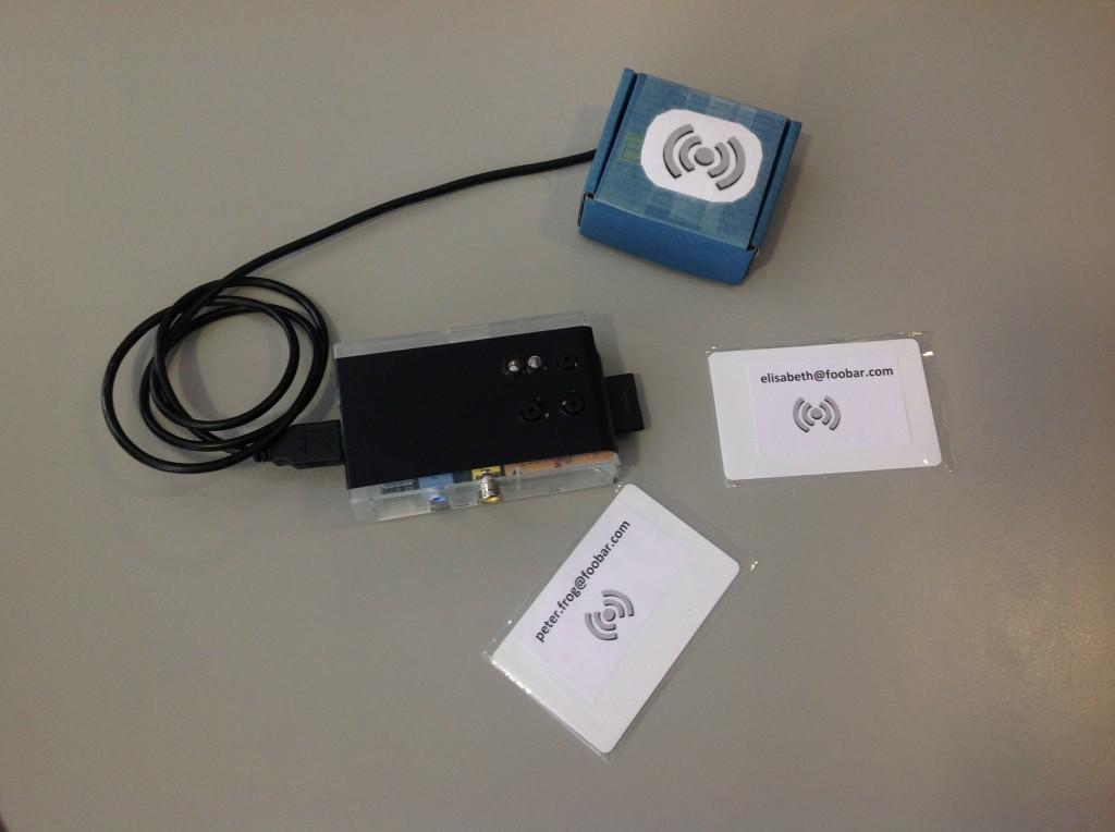 RFID reader inside the box